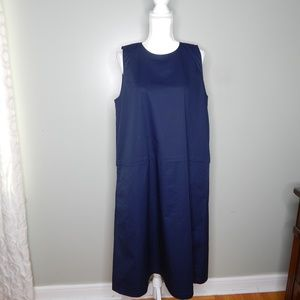 everlane women Navy blue dress sz 12